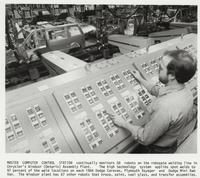 Master Computer Control Station in Chrysler's Windsor (Ontario) Assembly Plant, from the Automobile Reference Collection