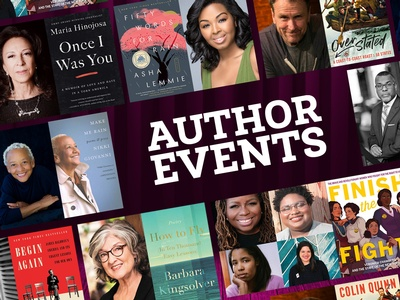 Author Events kick off the fall season on Tuesday, October 20.