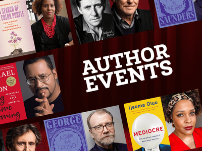 The Winter/Spring 2021 Author Events series is kicking off Monday, January 18!