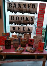 2017 Banned Books Display at Eastwick Neighborhood Library