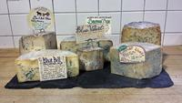 Delicious local blue cheeses
