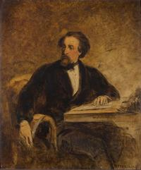 William Powell Frith. Portrait of Charles Dickens, 1858. Gift of William M. Elkins.