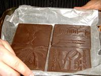 The Chocolate Press displays chocolate made from personalized 3D printed molds.