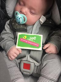My son's first library card!