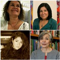 Women in Poetry! Dr. Norma Corrales-Martin (Colombia) , Soledad Chavez-Plumley (Colombia), Dr. Azahara Palomeque (Spain) and Dr. Aurora Camacho de Schmidt (Mexico).