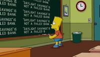 Looks like Bart has a lot to learn about Daylight Saving(s) Time...