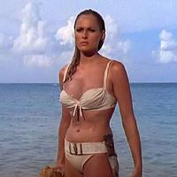 Ursula Andress as Honey Rider in the film <i>Dr. No</i> (image source: wikipedia)