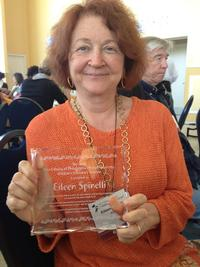 Eileen Spinelli with the Free Library of Philadelphia/Drexel University Children's Literature Citation.  Photo Credit: Joel Nichols