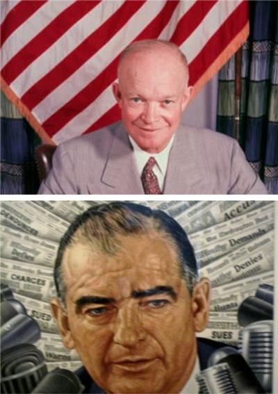 President Dwight Eisenhower and Senator Joseph McCarthy