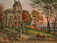 Germantown, Philadelphia, Watercolor, Print and Picture collection