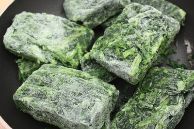 Frozen greens are great to keep on hand, for quick cooking veggies.