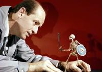 Harryhausen and skeleton warrior from Jason & the Argonauts