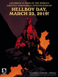 Saturday, March 23, 2019 marks the 25th anniversary of Hellboy and has been declared