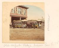 Horse-drawn streetcar, Ridge Avenue depot