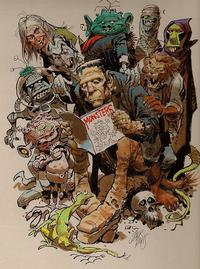 Monsters! Monsters! Read All About It! Monsters illustration by legendary MAD Magazine and EC Comics artist Jack Davis