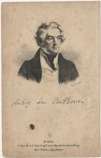 Beethoven Lithograph from the Free Library's Print and Picture Collection - Jackson Collection of American Lithographs.  Image no: pdcj00093