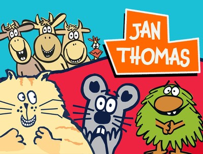Looking for some storytime inspiration? Check out Jan Thomas' books in the Free Library collection.