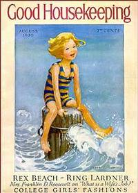 Illustration by Jessie Willcox Smith for the cover of Good Housekeeping Magazine