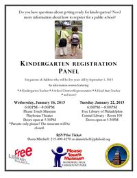 Kindergarten Registration Panel