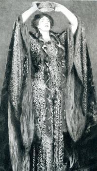 Portrait of actress Ellen Terry as Lady Macbeth