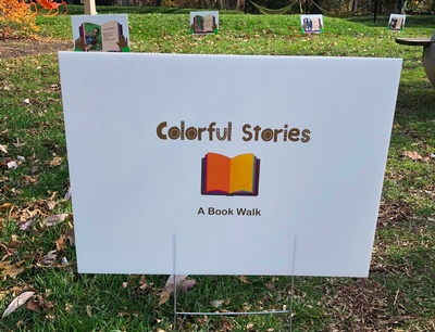 Lisa Browne of Colorful Stories came up with the story and idea for the book walk event.