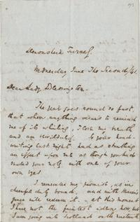Letter from Charles Dickens to Lady Blessington