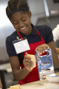 All smiles in the Culinary Literacy Center!