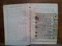 15th C illuminated Book of Hours leaf in a 1903 book on the alphabet
