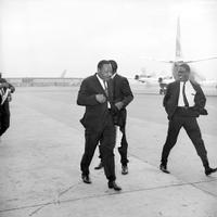 Dr. Martin Luther King leaves Philadelphia International Airport, National Airlines, from our Digital Collections https://libwww.freelibrary.org/digital/item/18480