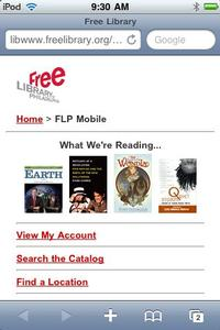 View our homepage from your mobile phone!
