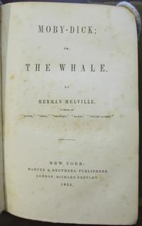 Nathaniel Hawthorne's presentation copy of Moby-Dick. Collection of the Rosenbach, AL1 .M531mo 855.