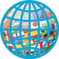 globe with many nationalities and countries