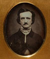 Daguerreotype portrait of Edgar Allan Poe (ca. 1848). Photographed by Will Brown.