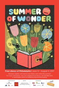 Summer of Wonder official poster, artwork by artist Greg Pizzoli