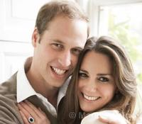 Official engagement photograph of Prince William and Catherine Middleton by Mario Testino © The British Monarchy