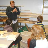 Mr. Alex visiting the woodshop