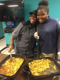 Teen cooking class at Queen Memorial Library