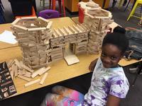 Building blocks at Queen Memorial Library