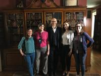 Rosenbach staff with Mark Gatiss.