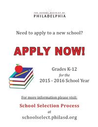 Apply Now for the 2015 - 2016 School Year!