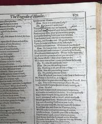 Notes from Milton on <i>Hamlet</i> from Shakespeare First Folio
