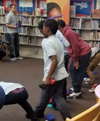 Kearny students working on their hand-eye coordination