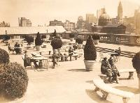 The outdoor space on the fourth floor has changed, but the view of City Hall remains!