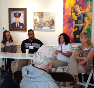 Panel discussion at Abington Arts Center
