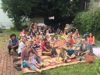 Stories, songs, and movement dazzled the kids and entertained the adults, all in the peaceful garden environment of Union Baptist Church, during a Storytime in the Garden event.