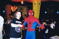Yours truly, true believers, hangin' out with that Friendly Neighborhood Spider-Man