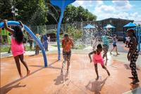 Visit one of Philly's many spraygrounds this summer!