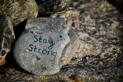 Stay Strong! Nature, wellness, and self-care rocks!