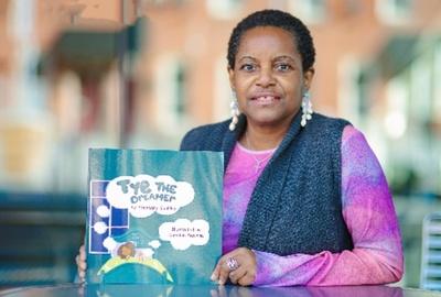 Stephany Coakley and her book Tye the Dreamer.
