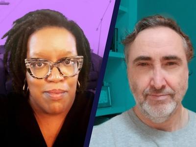 Hosts of Story Search, Andrea Lemoins and Joe Shemtov